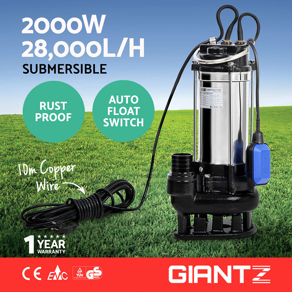 2.7HP Submersible Dirty Water Pump