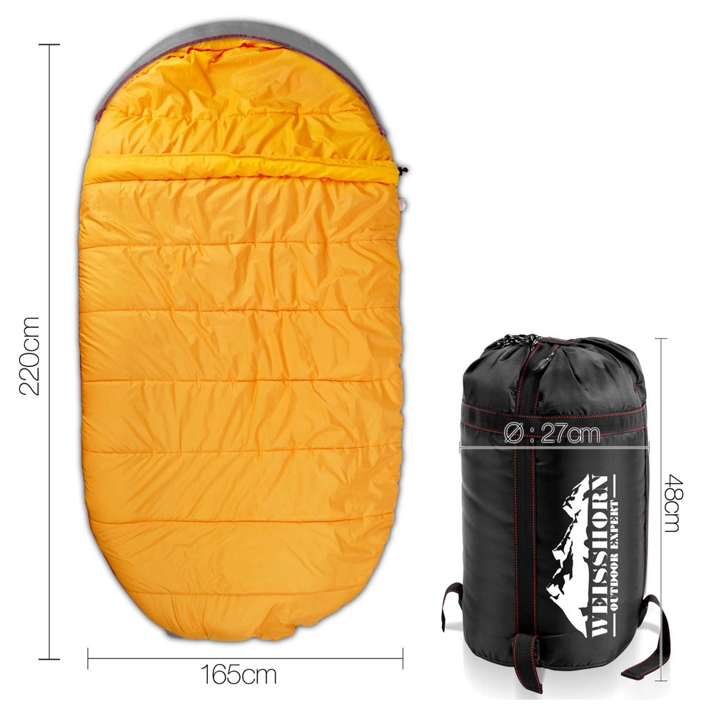 Weisshorn Extra Large Sleeping Bag - Red