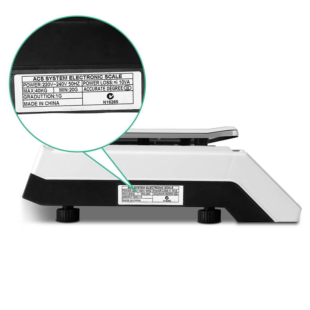 Giantz Electronic Digital Weight Scales - White