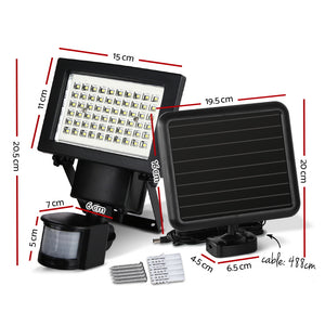 Set of 2 60 LED Solar Powered Sensor Light