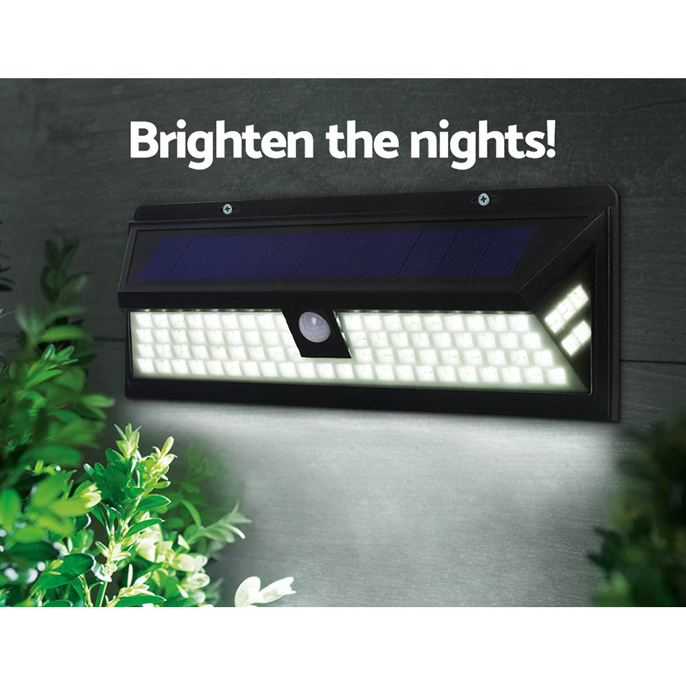 86 LED Solar Powered Sensor Light - Black