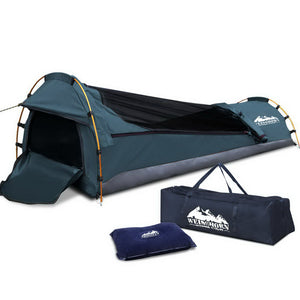 Weisshorn Biker Single Swag Camping Swag Canvas Tent - Navy