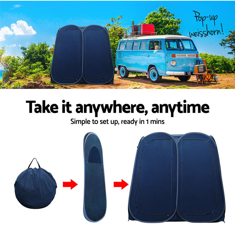 Portable Double Pop up Changing Room Shower Tent