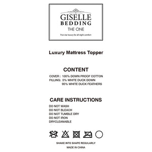Giselle Bedding King Single Size Mattress Topper