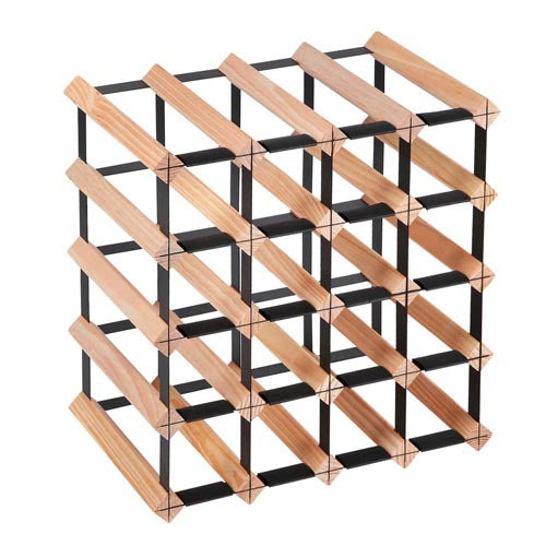 Artiss 20 Bottle Timber Wine Rack