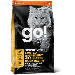 GO! SENSITIVITIES Limited Ingredient Grain Free Pato Gatos 1,4kg