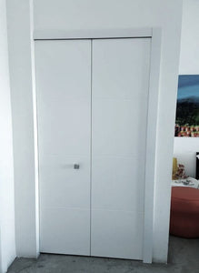 Bifold Door C-02 Sky Primed included hardware and tracks