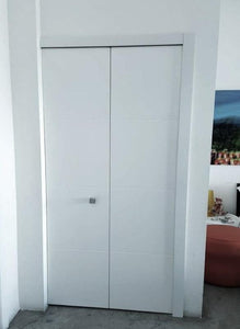 Bifold Door C-01 Sky Primed included hardware and tracks