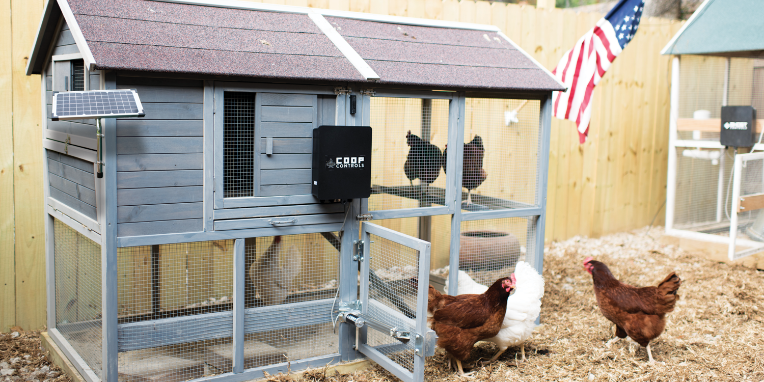 Coop Controls automatic chicken coop opener kits