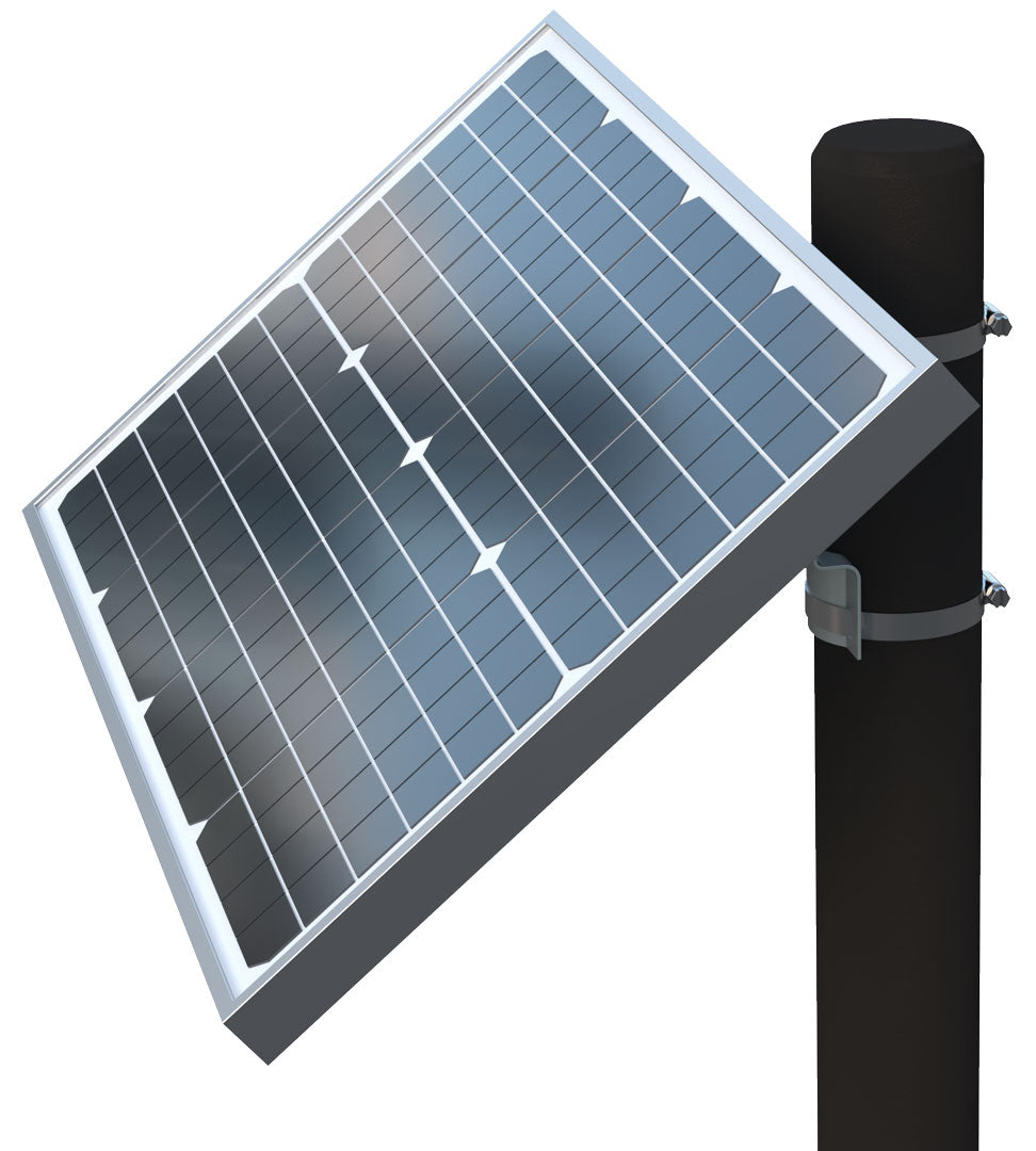 Ghost Controls 30W Solar Panel Side View