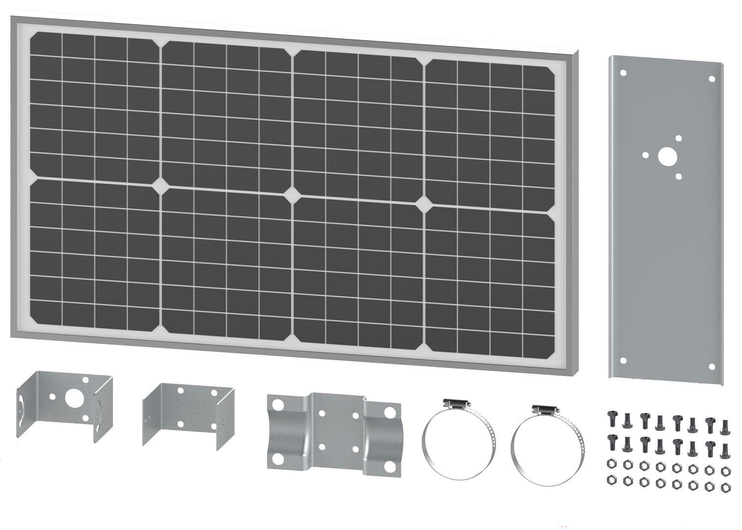 Ghost Controls 30W Solar Panel Components