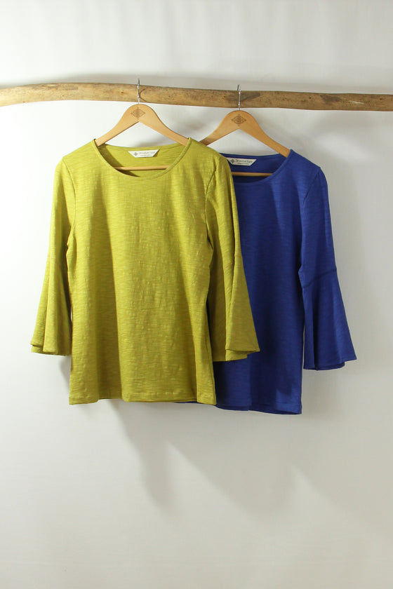 Flare Sleeve Top-Flame- WS Solids