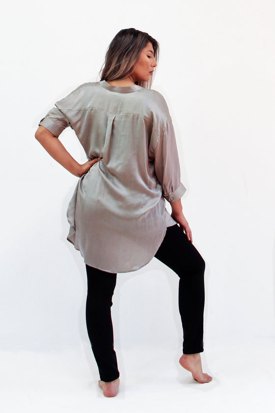 Soie- Silk Blouse and Palazzo Crops- Separates