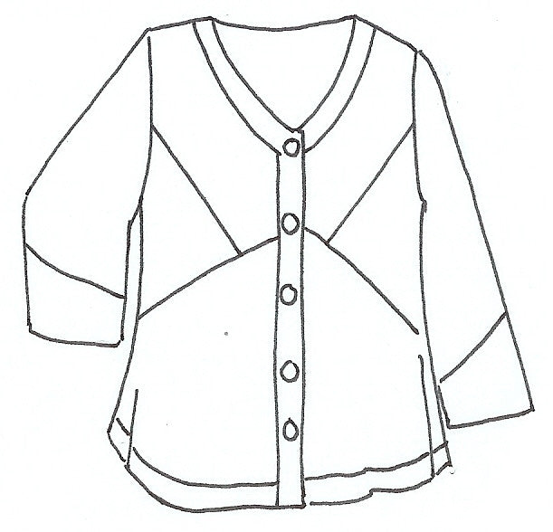 Curved Bodice Jacket - Quick Ship
