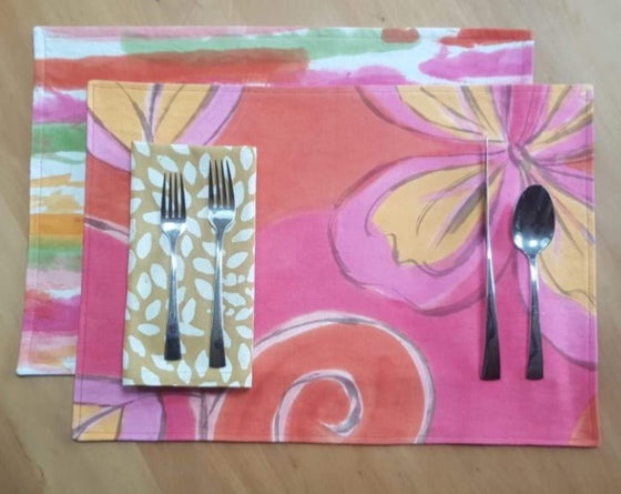 Wild Hibiscus Placemats and Napkins