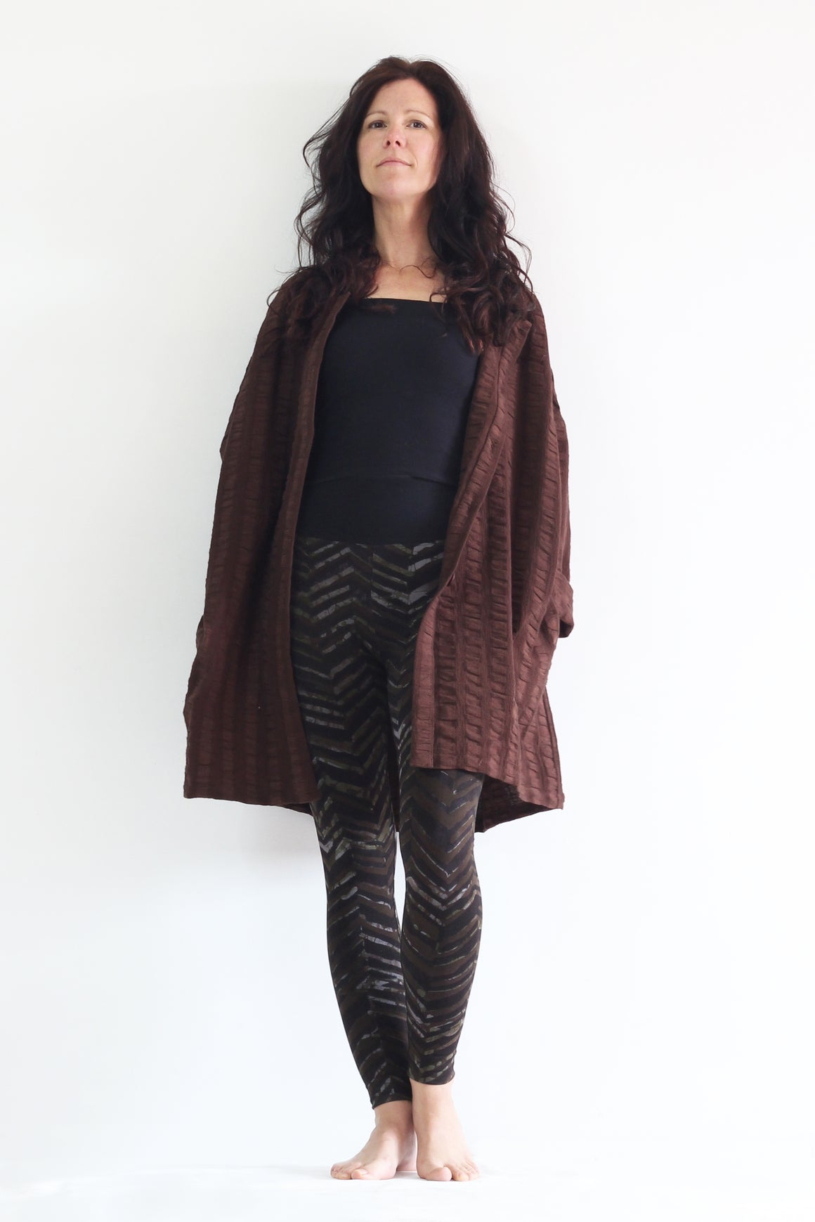BronzeMe Chocolate - Biggy Short Jacket, Leggings, and Classic Top - 3 Piece Outfit