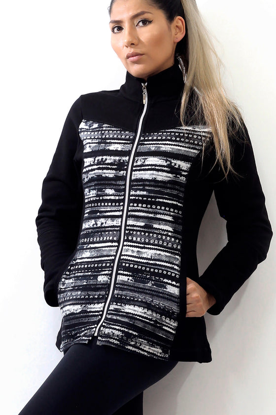Nights Stripe- Athleisure Vest or Jacket