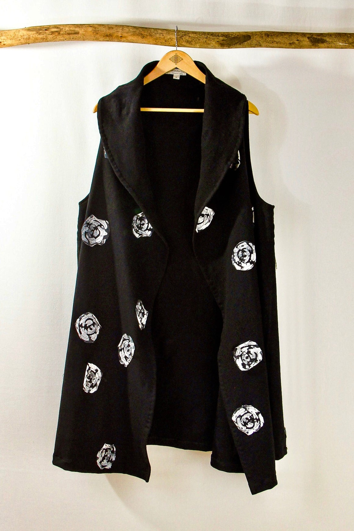 Frenchish- Big Fleece Appliqué Vest - Separates