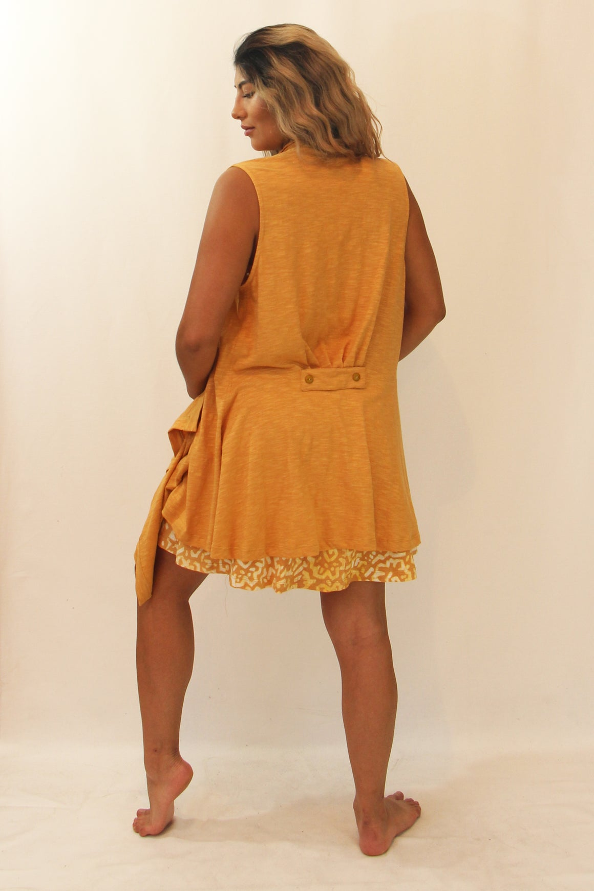 French Back Dress Flame- WS.TS 7797 Separates