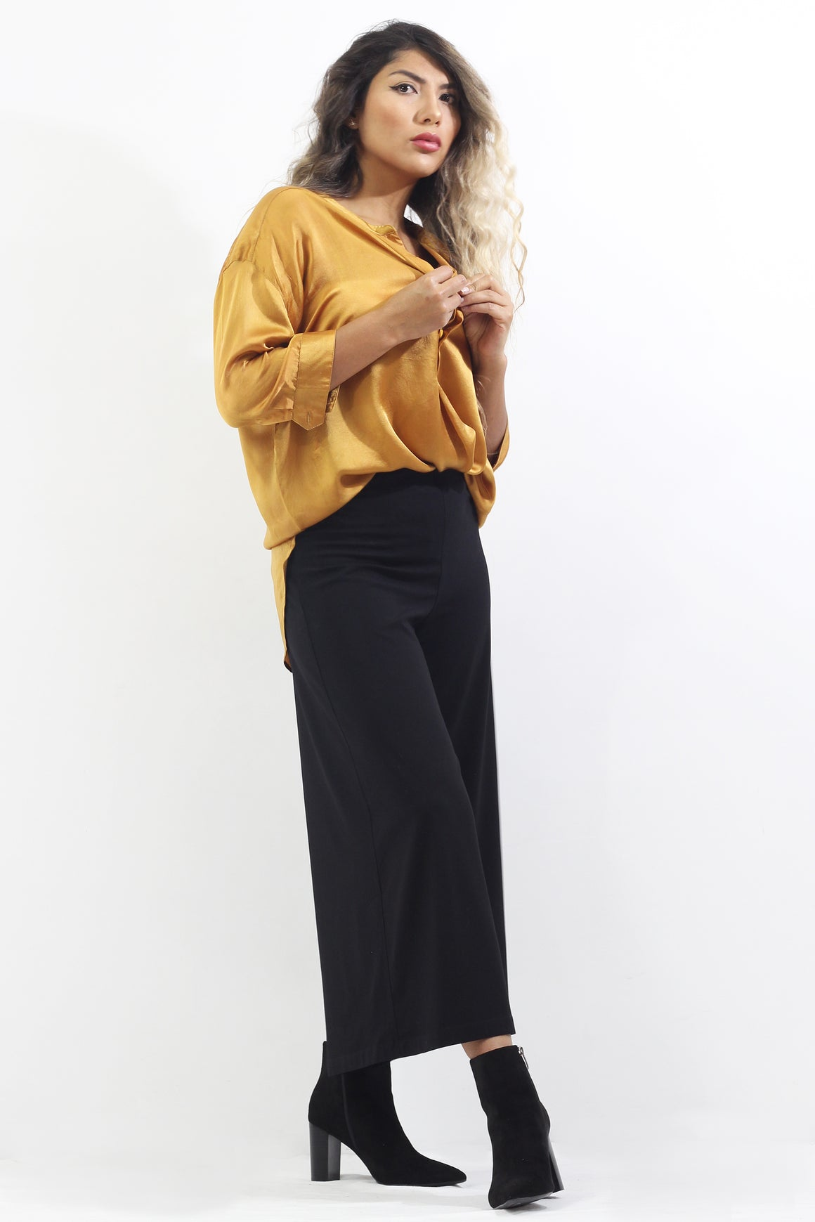 Soie- Silk Blouse or Palazzo Crops- Separates
