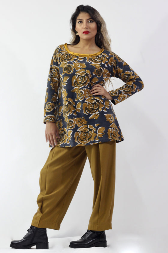 BronzeMe - 5070 Tunic Sueded Cotton w/ Silk Velvet - Separates