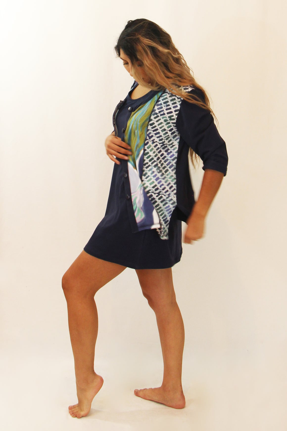 Blue Magnolia- Jacket, Dress, Leggings - WS 3 Piece Outfit