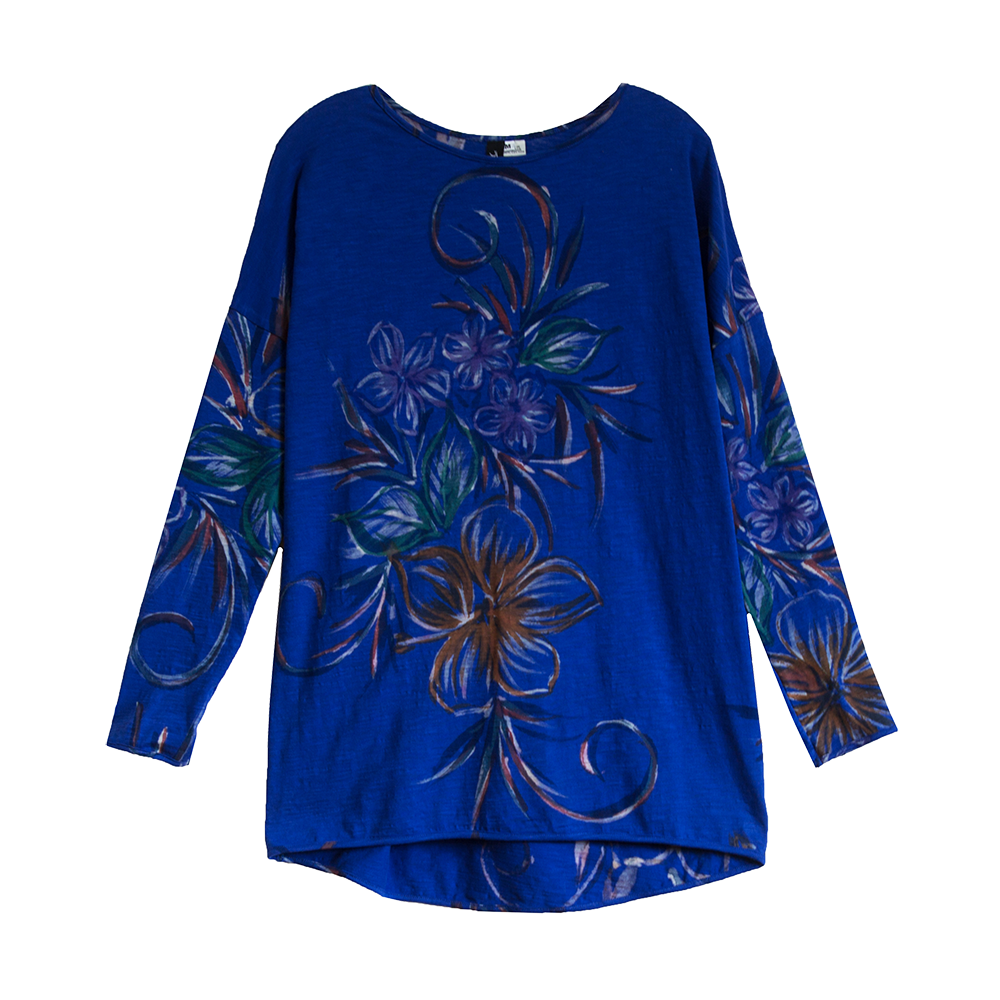 Cobalt Blue Winter Floral