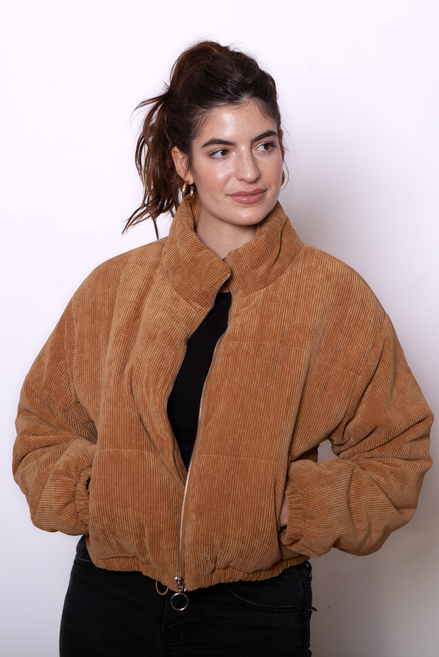Chestnut Bomber Jacket