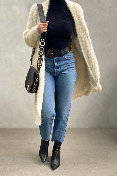 Front Furry Cardigan
