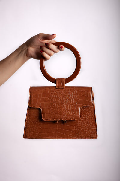 Brown Clutch Front