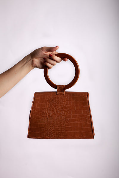 Brown Clutch Back