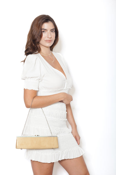 White Linen Shirt And Skirt Set Oblique