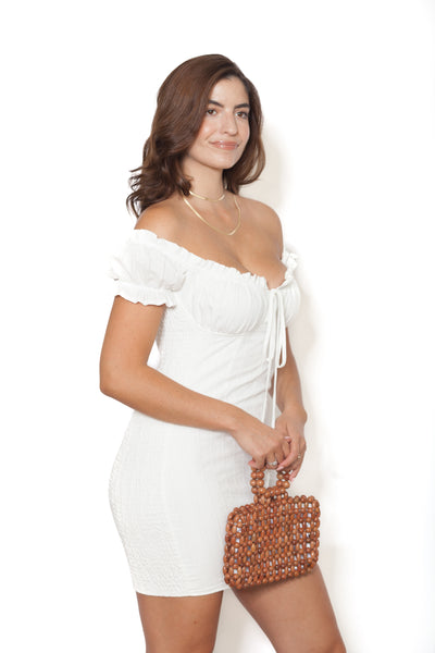 White Smock Dress Side