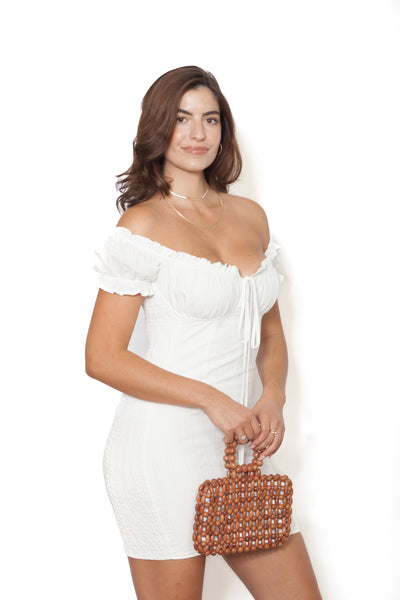 White Smock Dress Oblique