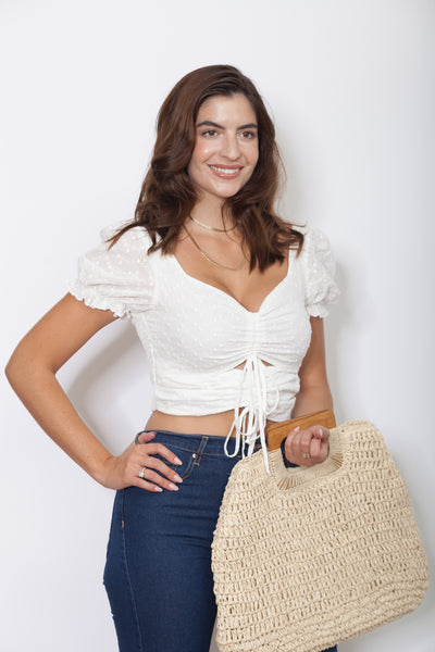 Eyelet Crop Top Side