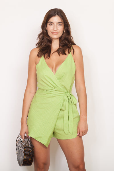 Lime Green Romper Lean