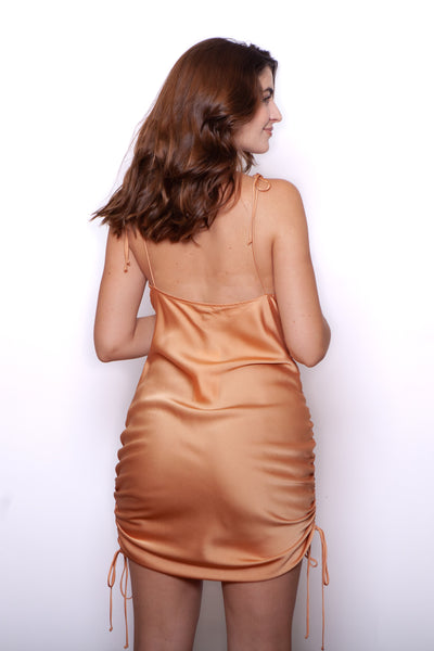 Satin Slip Dress Back