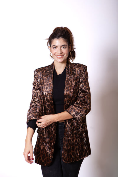 Leopard Blazer Full Body
