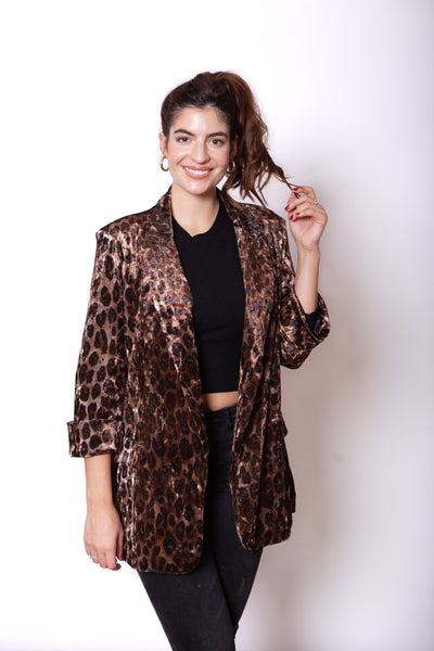 Leopard Blazer Close Up