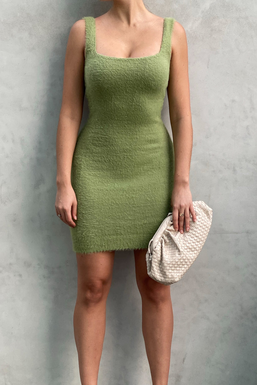 Sage Fuzzy Dress