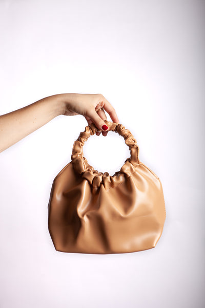Beige Leather Bag Side