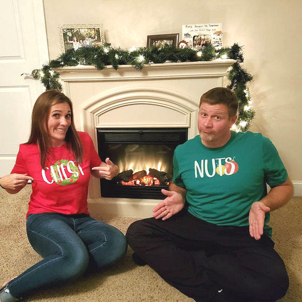 Chest Nuts Christmas Couples T-Shirts
