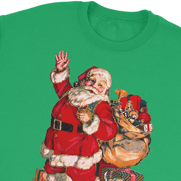 Santa Waving Sweatshirt