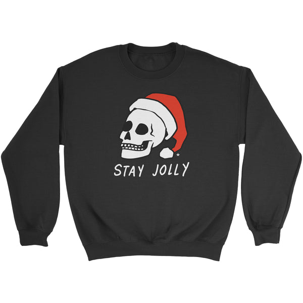 Stay Jolly Christmas Skull Sweatshirt