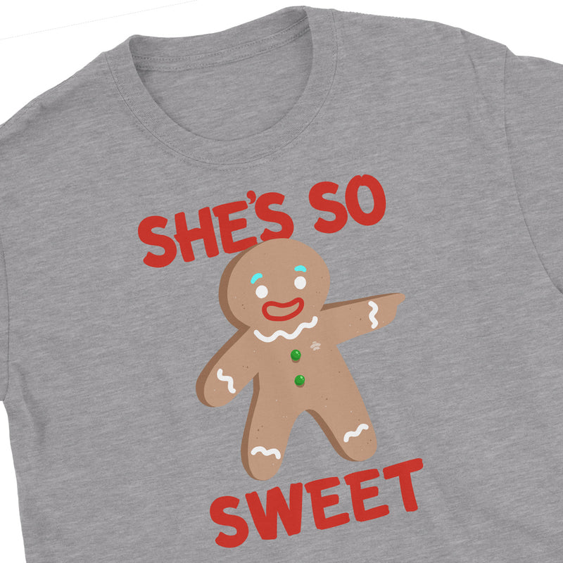 Gingerbread Matching Christmas Couples T-Shirts