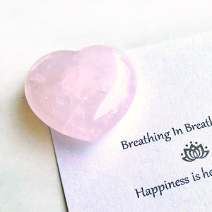 心形粉晶晶石 ·  Heart-shaped Rose Quartz