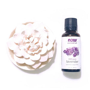 擴香陶瓷蓮花 及 Now 薰衣草精油 ·  Lotus-shaped Aroma Ceramic & Now Essential Oils - Lavender (30ml)