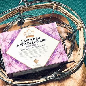 Nubian Heritage 薰衣草及野花香皂 ·  Nubian Heritage Lavender & Wildflowers Bar Soap (142g)