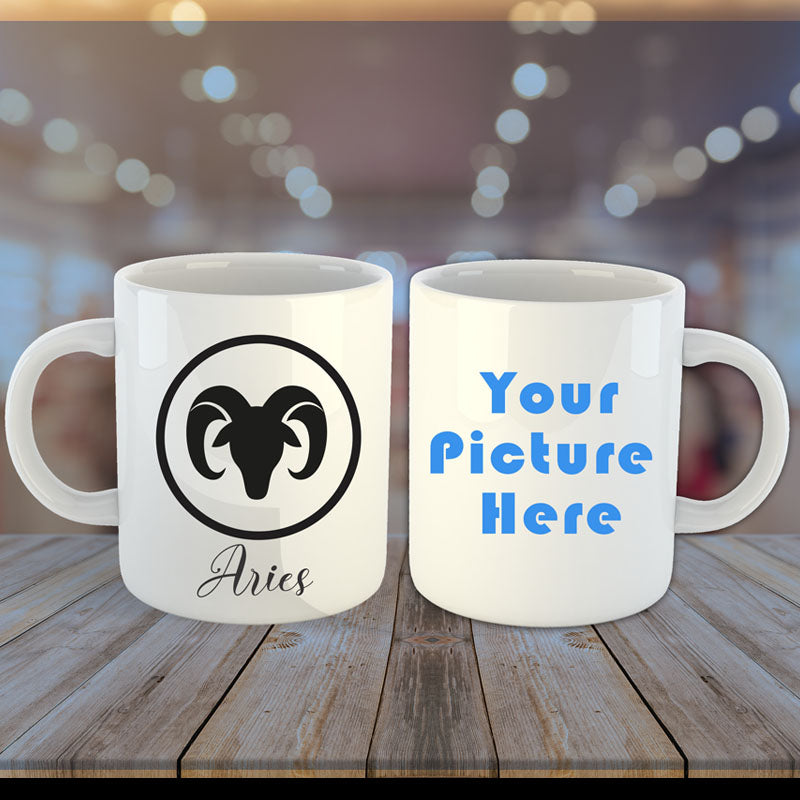 Zodiac Sign Photo Mug