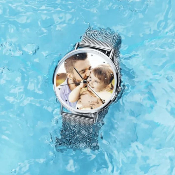 Custom Photo Watch Engraved Alloy Bracelet (Case included)